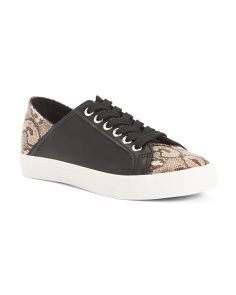 Snake Print Fashion Sneakers