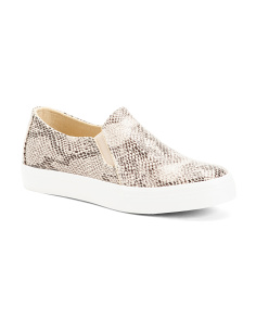 Snake Print Slip On Fashion Sneakers