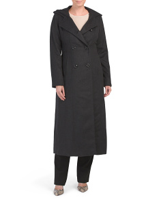 Long Wool And Cashmere Blend Coat