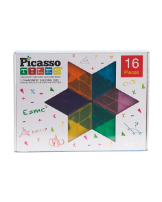 16pc Magnetic Building Tiles Geometry Set