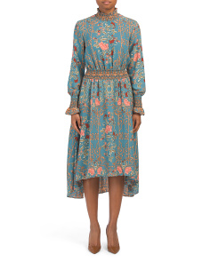 Floral Dress With Smocking Detail