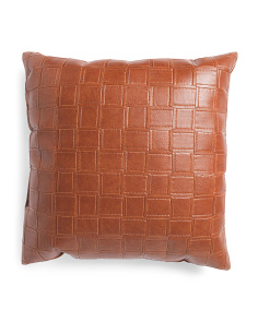 22x22 Leather Look Pillow