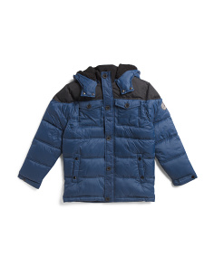 Big Boys Color Block Puffer Coat