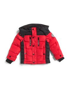 Little Boys Color Block Puffer Coat