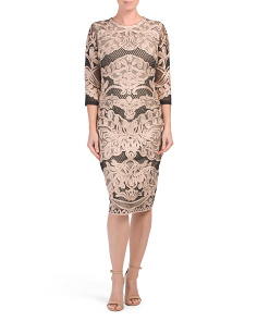 Three-quarter Sleeve Soutache Dress