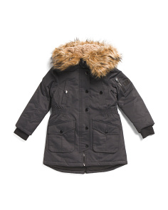 Little Girls Heavyweight Parka With Hood