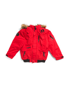 Big Boys Rib Bottom Parka Coat