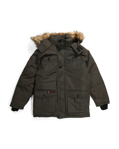 Little Boys Rib Bottom Parka Coat