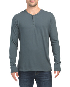 Raw Edge Henley Shirt