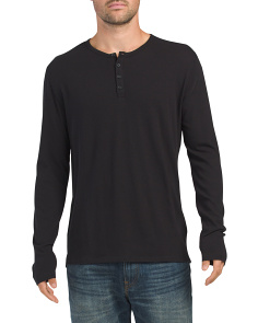 Raw Edge Henley Top