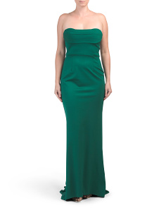 Knit Strapless Gown