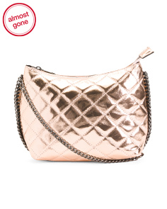 Made In Italy Quilted Leather Crossbody