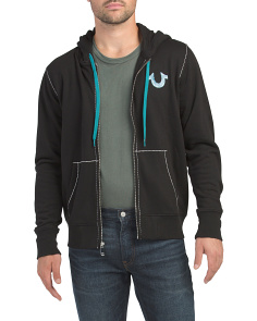 Big T Horseshoe Zip Up Hoodie