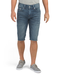 Ricky No Flap Frayed Hem Shorts