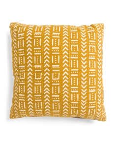 20x20 Multi-pattern Mudcloth Pillow