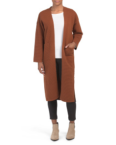 Side Button Oversized Duster Cardigan