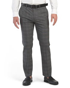 Mayer Tonal Glenplaid Wool Blend Dress Pants