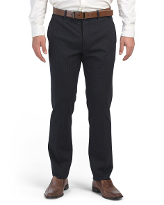 Payton Check Ponte Dress Pants