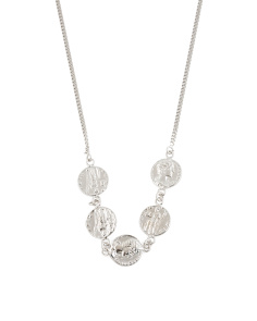 Made In Italy Sterling Silver Coin Necklace