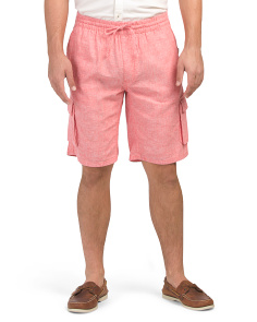 Tom Drawstring Linen Cargo Shorts