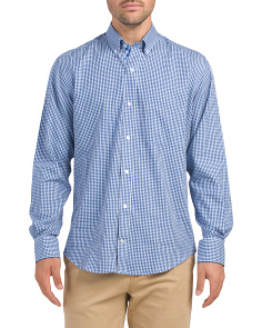Long Sleeve Gingham Check Shirt