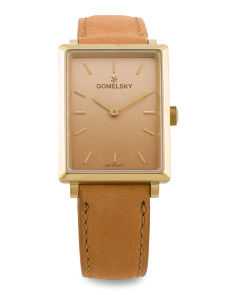 Women's Made In Usa Ombre Dial Shirley Leather Strap Watch