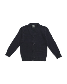 Little Boys Elbow Patch Cardigan Sweater