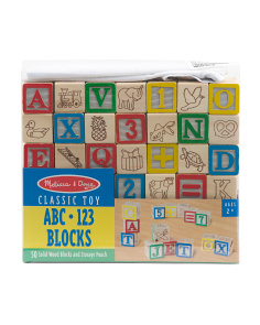 Wooden Abc 123 Blocks Set