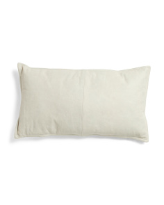 14x26 Genuine Leather Front Pillow