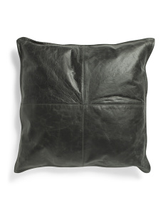 22x22 Leather Front Pillow