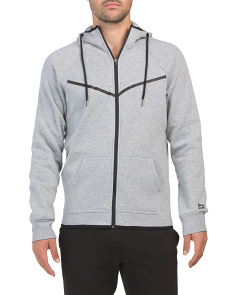 Fleece Zip Front Hooded Jacket