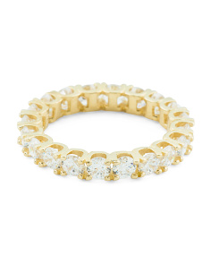 14k Gold Cz Eternity Band Ring