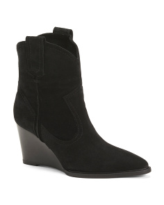 Made In Italy Suede Wedge Boots