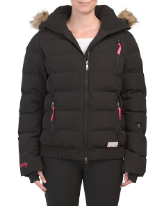Insulated Glorious Ski Jacket With Faux Fur Hood