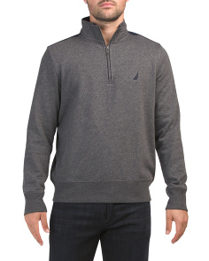 Pieced Quarter Zip Fleece