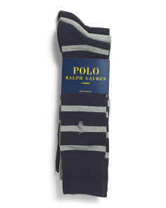 3pk Wide Stripe Socks
