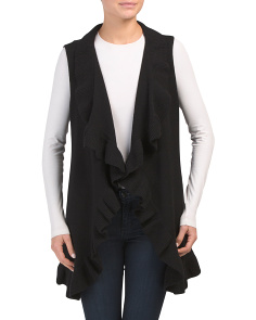 Vest With Ruffle Detail
