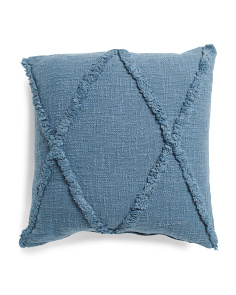 20x20 Linen Look Tufted Pillow