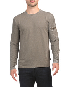 Burnout French Terry Crew Neck Top