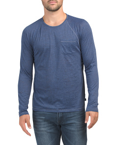 Long Sleeved Raglan Crew Neck Tee