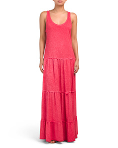 Made In Italy Racerback Cotton Maxi Dress