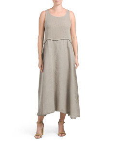 Made In Italy Linen Knit Top Maxi Dress