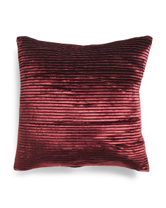 22x22 Pleated Velvet Pillow