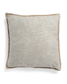 24x24 Oversized Faux Linen Pillow