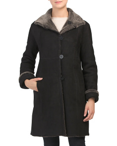 Made In Usa Shearling Reversible Coat