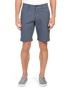 Dobby Stripe Check Shorts