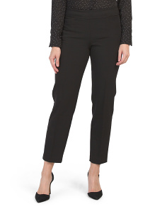 Petite Pull On Tummy Control Wrinkle Resistant Pants