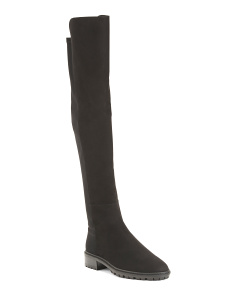 Made In Spain Flat Suede Over The Knee Boots
