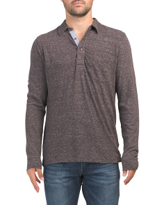 Long Sleeve Luxe Heather Polo