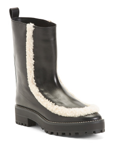 Made In Spain Sherpa Leather Boots